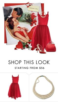 """""""Vintage Valentine"""" by ollie-and-me ❤ liked on Polyvore featuring vintage"""