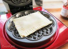 Blätterteig im Waffeleisen / puff pastry in the waffle maker / DIY vonkarin