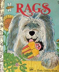 Little Golden Book ~ Rags by Patricia Scarry~ Children's Dog Story