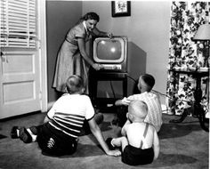 "Vintage TV 1950s-""Scoot back from that television set, you'll ruin your…"