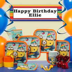 Minion Themed Thank You Party Invitation Teen Prize