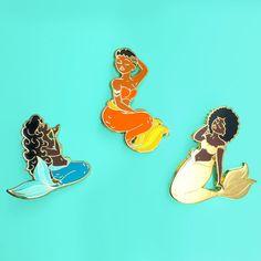'Mermaid' Pin (4 Colors!)