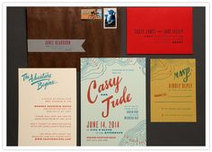 Scout Wedding Invitation Suite, Ladyfingers Letterpress  HOLY CRAP! FOR A WEDDING BETWEEN GEOLOGISTS