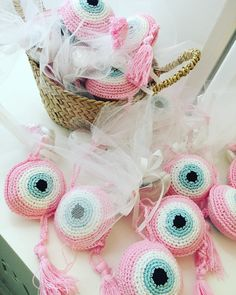 crochet evileye bonbonieres by cottonprince.gr