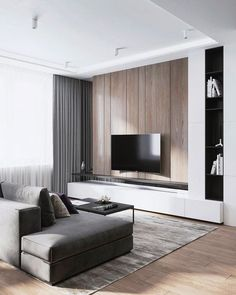 70 Rustic Tv Wall Design Ideas For Home 1 - homydezign Living Room Modern, Living Room Interior, Cozy Living, Modern Wall, Small Living, Living Room Sets, Home Living Room, Tv Wall Decor, Wall Decorations