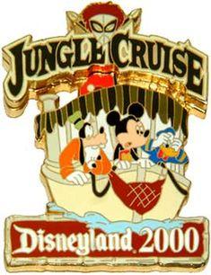 Disneyland Mickey, Goofy, and  Donald Jungle Cruise Pin