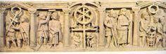El Sarcófago de la Pasión, Roma (siglo IV). se encuentra en el museo Pio Clementino
