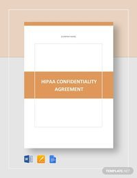 Hipaa Confidentiality Agreement Template Word Doc Google Docs Apple Mac Pages Brochure Design Template Brochure Template Layout Booklet Design