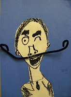 second graders grow mustaches- Salvador Dali 2nd Grade Art, Grade 2, Salvador Dali Art, Speed Art, Art Lessons Elementary, Elementary Teacher, Ecole Art, School Art Projects, Drawing Projects