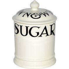 Emma Bridgewater 1pt sugar storage jar ($48) ❤ liked on Polyvore