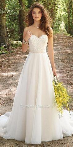 Camille La Vie Corset Organza Wedding Dress at eDressMe #affiliatelink http://gelinshop.com/ppost/258957047304697255/