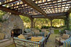 Fireplace and Pergola Designs | alpharetta outdoor seating area