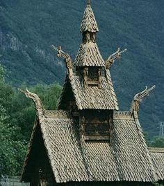Brogund stave church, Laerdal, Sogn of Fjordane