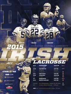 Notre Dame Men's Lacrosse Poster (2015)