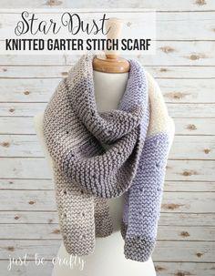 Star-Dust-Garter-Stitch-Scarf-Pattern