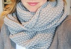 Circle Scarf, looks easy! Would use provisional CO to graft instead of stitch together. Knitting Yarn, Knitting Patterns, Knitting Projects, Knitting Ideas, Crochet Scarves, Knit Crochet, Snood Pattern, Cute Scarfs, Shabby Chic Crafts