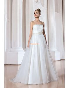 Hall Crystal Detailing Natural Wedding Dresses 2014