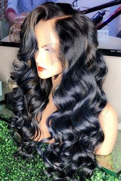 Hairspiration! Want this look? Shop Rated Bougie Hair Co. One of our many #8A #hair #extension textures/ #bundledeals and #lacewigs can help achieve this look, visit us on our website www.ratedbougie.com