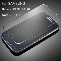 Senior toughened glass For Samsung Galaxy S3 4 5 6 for SAMSUNG Note2 3 4 5 Explosion-proof Front Glass Film Screen Protector