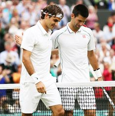 Novak Djokovic and Roger Federer.
