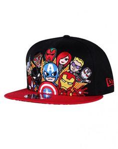 New Era Cap Hat Captain America Iron Man Civil War Marvel Snapback 9Fifity OSFM