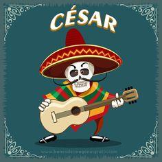 imagenes+dia+de+muertos+calaveritas+musico+con+guitarra+y+nombres+de+hombres+CESAR.png (650×650)
