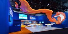 Amazing booth for MOZILLA, MWC BARCELONA & PRESS EVENT #design #booth #stand
