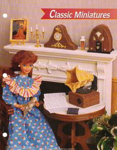CLASSIC MINIATURES PLASTIC CANVAS PATTERN FROM ANNIE'S FOR FASHION DOLL #ANNIESFASHIONDOLLPCCANVASCLUBBINDER