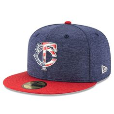 Minnesota Twins New Era 2017 Stars and Stripes 59FIFTY Fitted Hat - Heathered Navy/Heathered Red