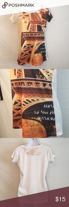 Spotted while shopping on Poshmark: Vintage M/L Eiffel Tower Tee! #poshmark #fashion #shopping #style #Tops