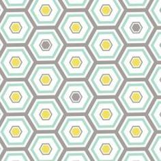 Camelot Cottons House Designer - Penelope - Bath House Tiles in Aqua