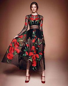women print sexy maxi dress 2015 new fashion casual O-neck elegant long sleeve long dress plus size vestidos largos Look Fashion, High Fashion, Womens Fashion, Fashion Design, Fashion 2015, Pretty Dresses, Beautiful Dresses, Gorgeous Dress, Beautiful Things