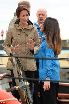 Aboard the magnificent ship, the Duke and Duchess went to the stern to hear more about the...