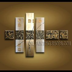 Amazing Contemporary Wall Art Oil Painting On Canvas For Bed Room Abstract. This 6 panels canvas wall art is hand painted by Kerr.Donald, instock - $185. To see more, visit OilPaintingShops.com