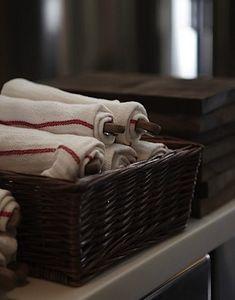 Restaurant Kitchen Towels cheap but pretty idea: use ikea dish towels as napkins! | napkins