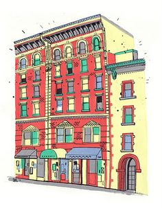 All the buildings in New York - James Gulliver Hancock, Australian illustrator living in brooklyn and drawing the city one building at a time