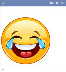 Use this emoticon to let someone know you find their comments funny.