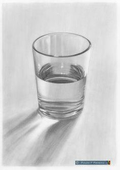 Glass of Water - Graphite Drawing by PauloPPereira