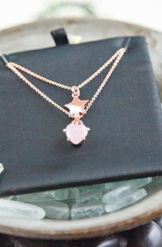 Juicy Couture Juicy Stars Double Layer Pave Star Necklace #accessories  #jewelry  #necklaces  https://www.heeyy.com/suggests/juicy-couture-juicy-stars-double-layer-pave-star-necklace-rose-gold/
