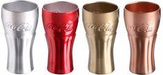 Coca Cola Glasses Tumblers. Copper Gold Red Silver Coke Glass Cups UNIQUE DESIGN #CocaCola