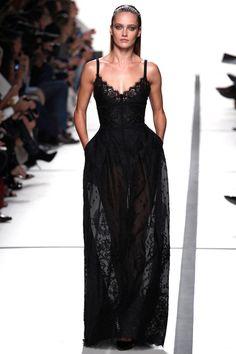 Black Lace Love : Elie Saab Paris Fashion Week Spring 2014 Ready-to-Wear Collection #PFW #ParisFashionWeek