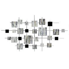 Wood & Metal Wall Art for Every Budget Silver Wall Decor, Silver Walls, Wall Art Decor, Bathroom Mirrors Diy, Diy Mirror, Metal Walls, Wood And Metal, Modern Metal Wall Art, Home Bar Designs