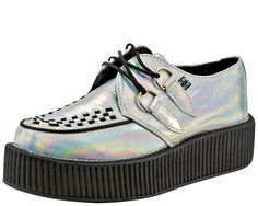 Iridescent Crinkle Creepers | T.U.K. Shoes  http://www.tukshoes.com/iridescent-crinkle-creepers