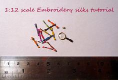 1:12 scale Embroidery silks tutorial. Brilliant!  I'm making some of these for my sewing room.
