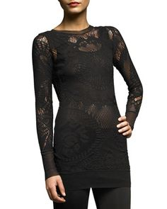 Long-Sleeve Lace Tunic by Jean Paul Gaultier at Neiman Marcus.