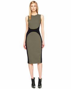 Michael Kors Two-Tone Crepe Dress.