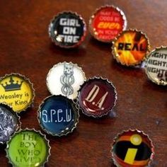 Resin Bottle Cap Pins for house robes