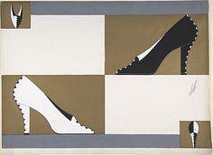 Erte shoe design, 1924