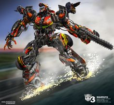Transformers 3 concept art by JoshNizzi