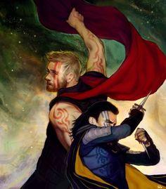 Thor, Loki and facepaint